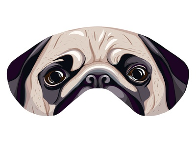 Pug Sleep Mask pug sleep mask pug sleep mask print jess jessica jessica buchanan pugpug snort eyes dog mask wichita