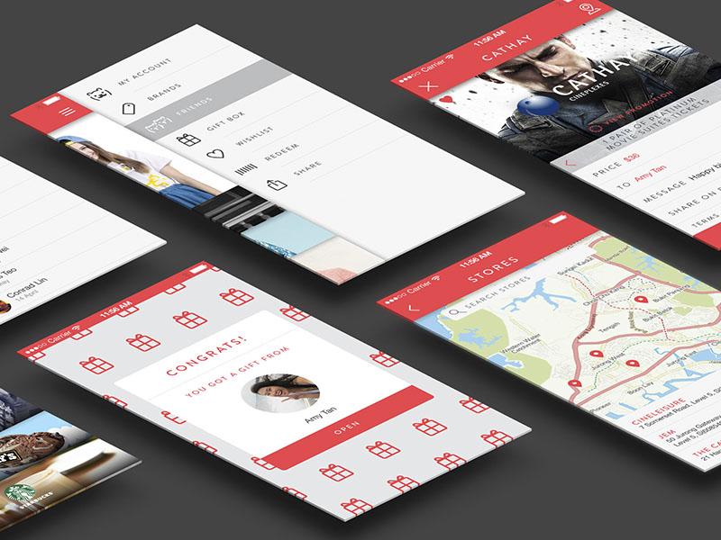 Fuzzie ios mobile app ux ui design interface