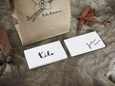 Kilo Kitchen branding design business card logo