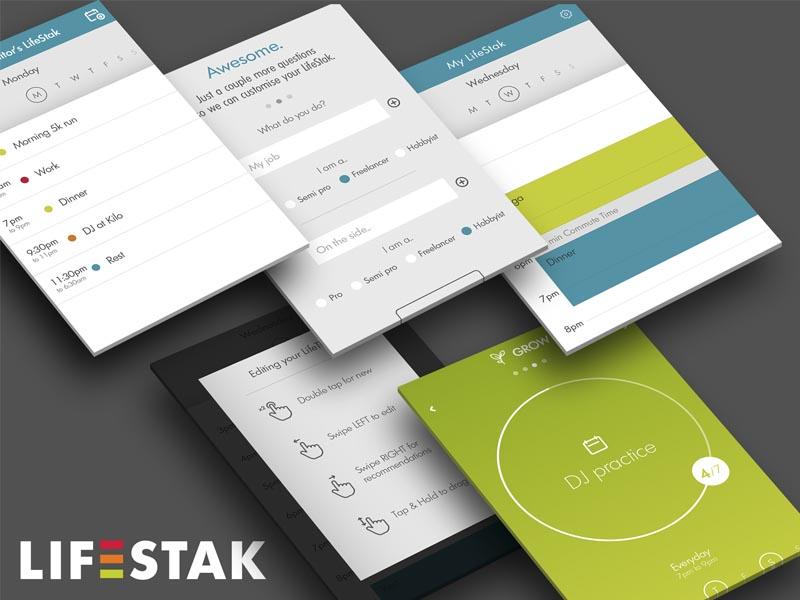 Lifestak ios mobile app interface design ui ux