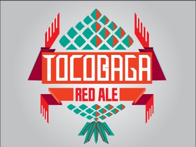 Tocobaga Red Ale tocobaga red ale beer indian spanish typography package label pineapple hops