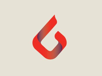 Six Sigma Logo six sigma efficient program corporate clean minimal gradient red purple 6 round flame organic branding logo