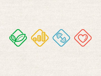 Wellness icon  Wellness Icons by Alexander Kusminov - Dribbble