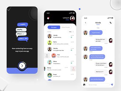 Messenger Design App message messenger typography vector logo branding illustrator ux ui illustration design app
