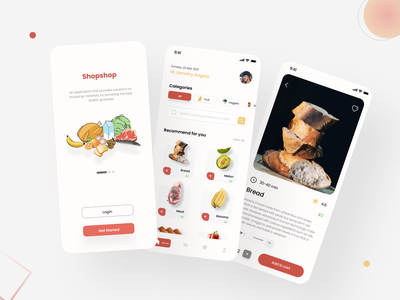 Grocery design app grocery challenge ios mobile uiux clean graphic design simple typography illustrator ux ui illustration design branding app