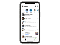 Messenger Chats chat app chatbot mockup ui interface chat facebook messenger messenger facebook