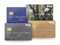 Visa credit cards app design mockup graphic visual design fintech app finance fintech cards card credit cards visa