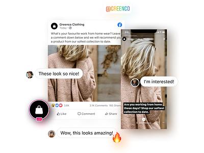 Comment-to-Instagram graphic design graphic ux interface chat comment post instagram facebook mockup design ui illustration