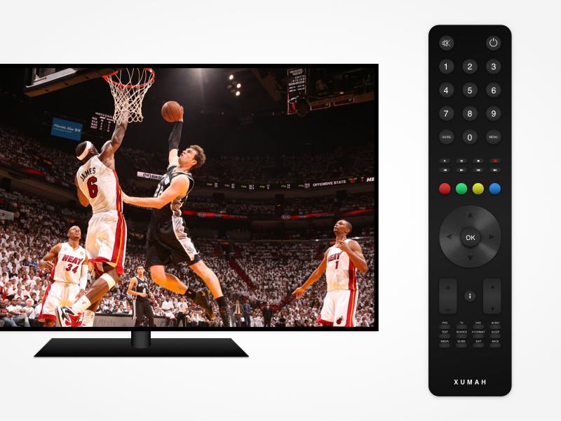 Television + remote in Sketch display mockup gradient vector practice sketch tv-remote remote tv television
