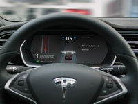 Tesla Instrument Cluster on autopilot