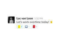 Yellow & Red cards in Slack