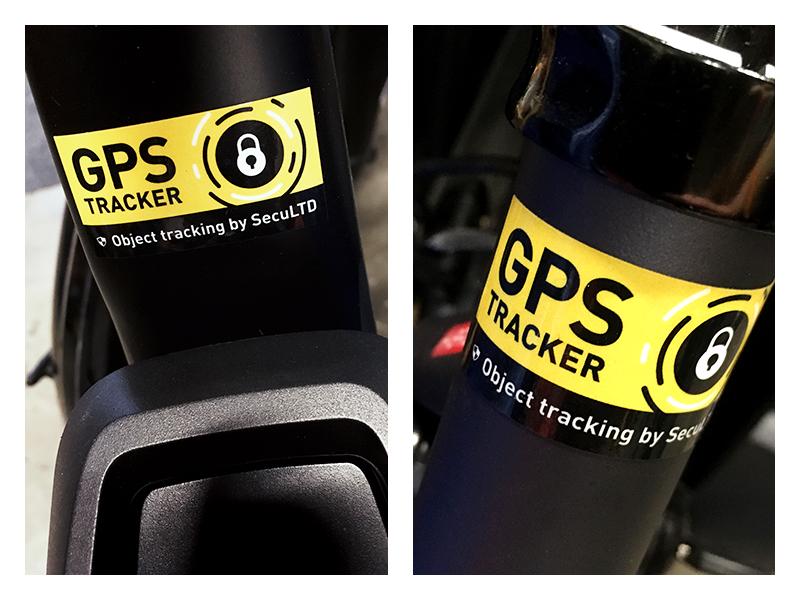 GPS tracker security stickers custom sticker rectangle stickers type icon lock black yellow security print sticker