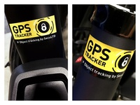 GPS tracker security stickers
