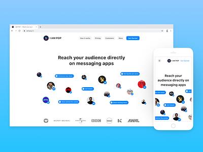 I AM POP — Homepage i am pop homepage design landing page marketing homepage website design ui