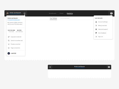 Top Navigation Test header design desktop dashboard ui dashboard web app top navigation navigation header web app design