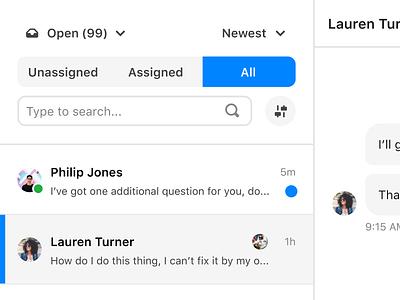 Inbox conversations dashboard design inbox dashboard ui chat email gmail customer support support crm dashboard