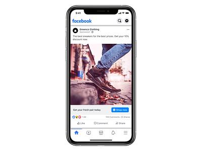 Facebook post UI facebook ads iphone mockup ui user interface facebook post design facebook post facebook ad facebook