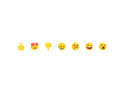 Messenger Reactions smiley emoticon messenger facebook reactions emoji emoticons icon illustration