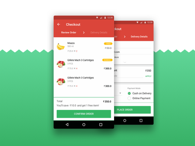 PepperTap Checkout - A Visual Redesign shopping online ecommerce grocery peppertap checkout uidesign design layout android ui userinterface