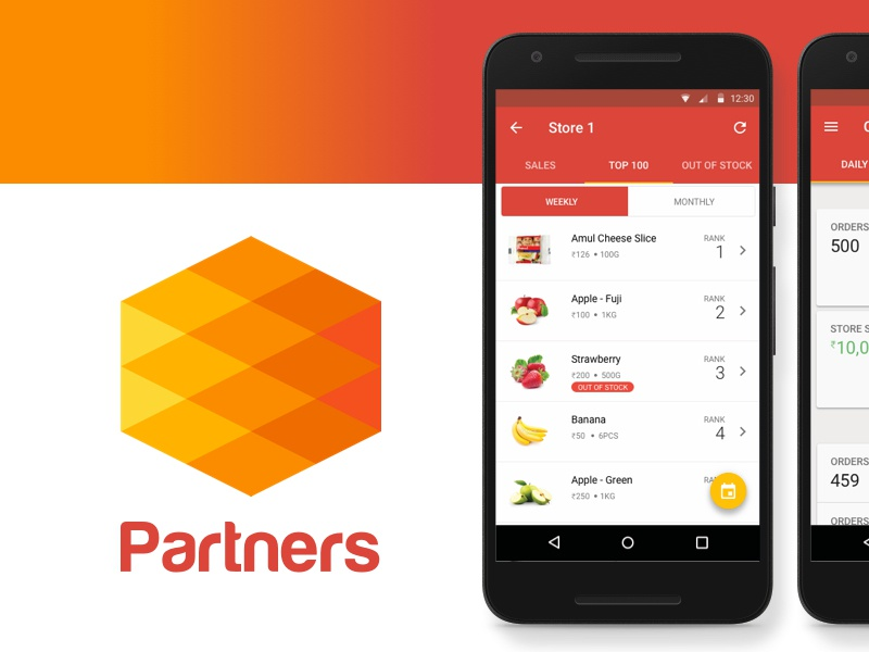 PepperTap Partners App shopping online ecommerce grocery peppertap vendors uidesign design layout android ui userinterface