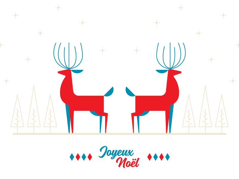 Joyeux Noël deer illustration 2018 new year december winter card holidays merry christmas
