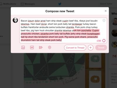 Twitter Convert To Thread