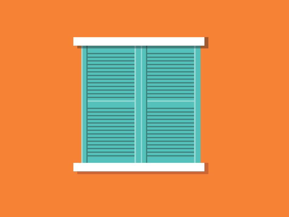 Window window light shadow architecture design vector illustration