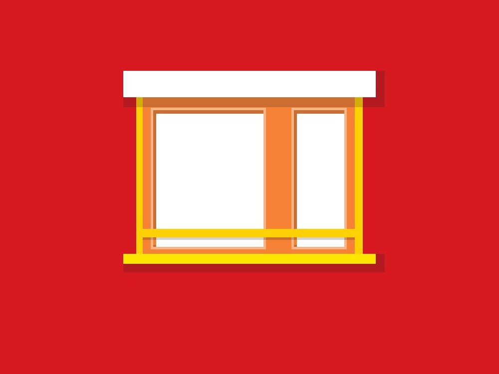Windows lights shadows architecture design vector illustration