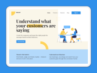 Landing Page Design for User Analytics Website