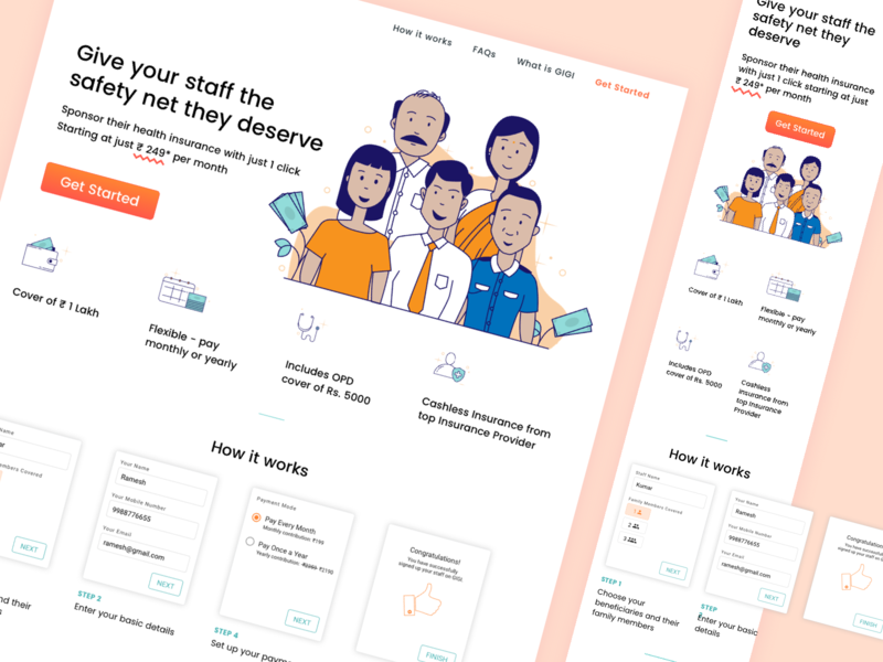 Landing Page for Benefits App