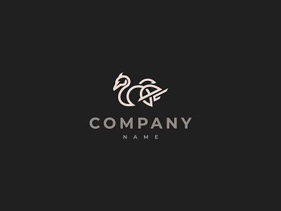 White Bird Logo icon branding design vector logo illustration