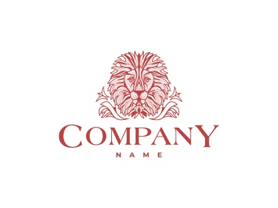 Leo Is The King Of Nature Logo animation branding design vector logo illustration