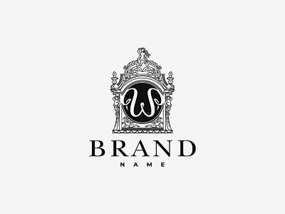 Vintage Letter W Logo branding design vector logo illustration