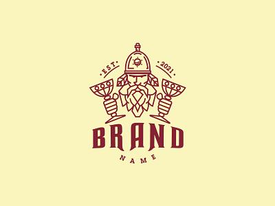 Beer Viking Logo icon branding design vector logo illustration