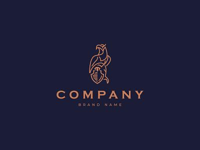 Eagles Law Logo illustrator icon branding design vector logo illustration