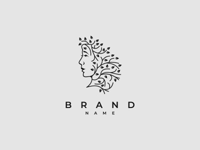 Face Of Nature Logo branding design vector logo illustration