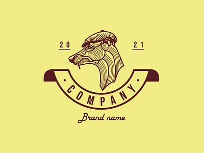 Dog In A Cap Logo animation branding design vector logo illustration