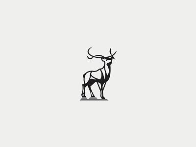 Great Deer Logo illustrator animation branding design vector logo illustration
