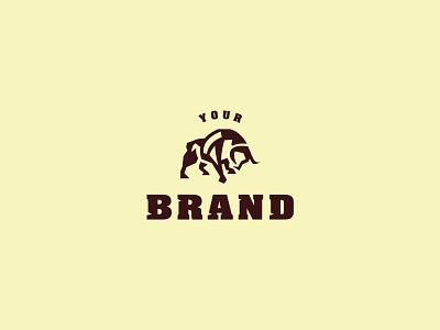 Bull Logo icon branding design vector logo illustration