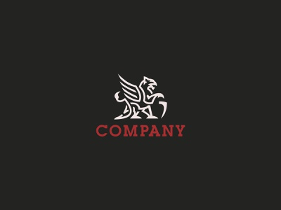 Griffin Logo illustrator animation branding design vector logo illustration