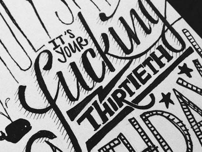 fuck!ng th!rty card typography custom