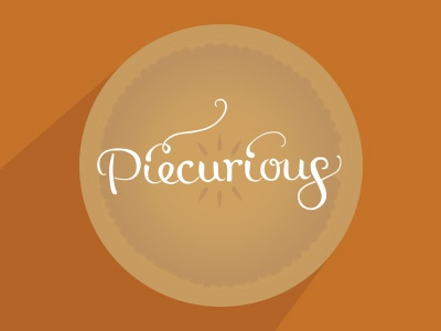 piecurious pie typography illustration food