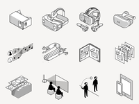 isometric virtual reality icons