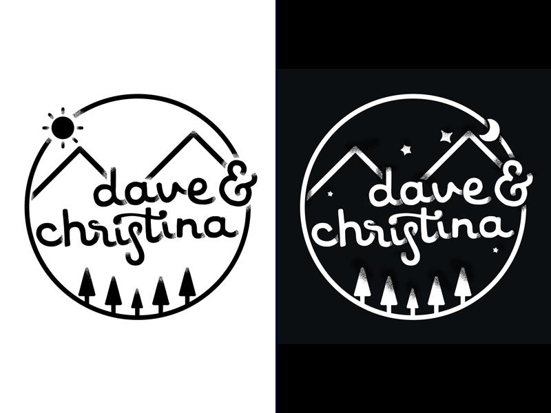Day to Night illustration typography handlettering wedding
