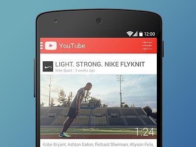 YouTube Android App youtube android kitkat nexus app video ui ux design nike