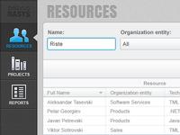 Resource Allocation Application UI