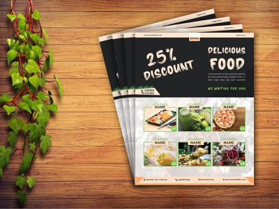 Restaurant Food flyer banner design poster design saloon flyer party flyer custom flyer event flyer restaurant menu food menu restaurant flyer food flyer corporate flyer company flyer business flyer graphic designer photoshop brochure design brochure flyer design design flyer
