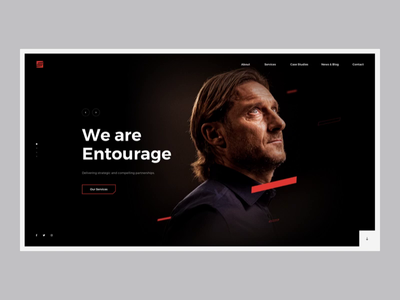 Commercial Sports Agency - Landing Page homepage animation landing services www ux ui design landing page homepage football agency sport