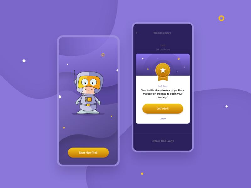 iOS Game Design graphic design design mobile ux ui achievement character design illustration vector ios game ios game app design app