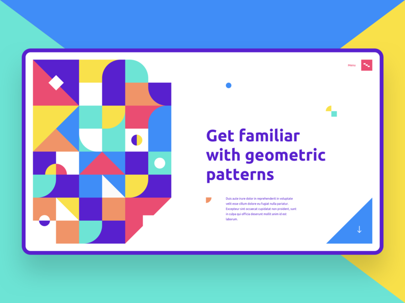 Geometric Patterns patterns design landing page webdesign website ui web colorful pattern illustration